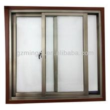 aluminum bronze color sliding windows supplier in guangzhou