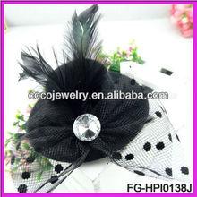 Children Accessories Feather Hair Hats Feathers Hair Girls Accesorios de novia flower white Wedding fascinator bases hat hair ac