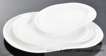 nice quality 5 to 24 inch super white high quality oval plates used in restaurant hotel