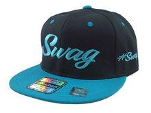 BLACK/AQUA VINTAGE SWAG FLAT BILL chicago SNAPBACK CAP HAT bulls snapback caps