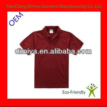 çocuk kırmızı düz polo t- shirt/klasik mens polo t shirt/yeni tasarım polo t shirt