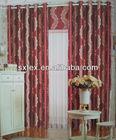100%Polyester Fabric Curtain Leaf Jacquard Window C
