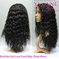 100% cabello humano, de alta calidad no cubiertorayita peluca del cordón