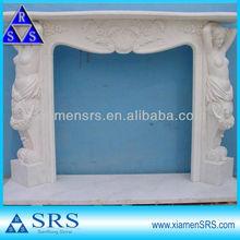 China white quartz fireplace surrounding