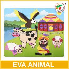 Multi Design Kids DIY Craft Kits EVA Sticker Ornament No Glue 3+ GW382305