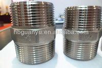 hex nipple dimensions stainless steel 150PSI BSP DN100