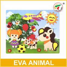 Multi Design Kids DIY Craft Kits EVA Foam Stickers Ornament No Glue 3+ GW382306