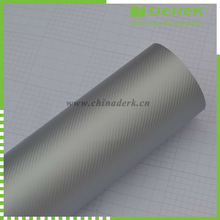 High polymer Silver Car Wrapping Foil 3D Carbon Design