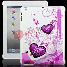 Elegant Butterfly Heart Shape TPU Case for iPad 2
