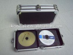 DJ Elegant Aluminum Creative Round Square CD Cases wit Lock, Tin CD Cases,Foldable Hand CD Cases