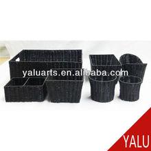 Food grade artificial rattan basket plastic basket
