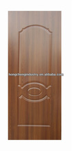 2012 New design hdf door skin teak surface