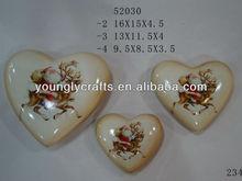 Ceramic heart shape flower pot for christmas ornament