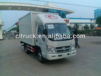 Mini dry van truck diesel delivery truck 1-3T on sale