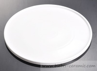 "14"" Modern Designed Popular Plain White Hotel And Restaurant Ceramic Porcelain Pizza Plates Wholesale"