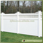 Vinyl Privacy Fence with picket top