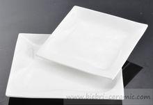 Wholesale All Size Elegant Custom Design Super White Hotel And Restaurant Ceramic Porcelain Food Plates Dishes