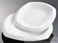 "Wholesale 12"" 14"" 16"" Super White Restaurant Hotel Ceramic Porcelain Side Dinner Service Plates Dishes All Size Custom Design"