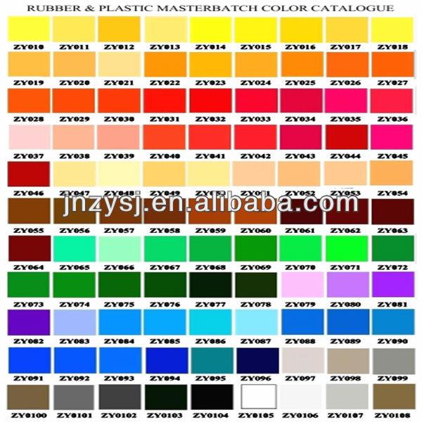 Color Chart For Plastic Color Granule Buy Color Granule
