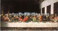 Leonardo da vinci's famous painting last supper-masterpiece reproduction