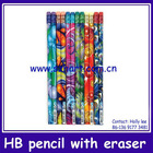 Wrap print school wooden pencils
