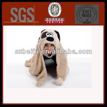 cotton terry fabric dog design wearable animal hood blanket