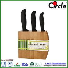 3 pcs ceramic knife block set