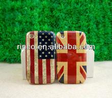 Retro UK & US USA Flag Hard Back Cover Case For BlackBerry Curve 8520 9300