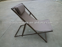 Polyester corrosion resistant wicker outdoor lounge C-SL-128