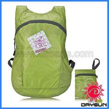 Folding up backpack bag