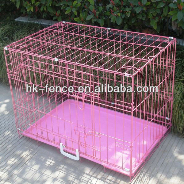 """48"""" 3 Door Folding Suitcase Dog Crate Pet Cage Cat Kennel With Metal Pan"""