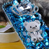 3D Luxury Handmade Crystal Bling Panda Cover Case for iphone 5 5g 5th