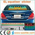 2014 nuevo logotipo electroluminiscente luz el coche ecualizador
