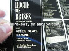 Elegant cover film semi-gloss wine labels