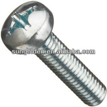 Steel Machine Screws, Metric, Pan Head, Phillips Drive, Zinc Plating Finish,
