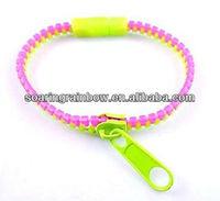 patented fashion plastic zipper bracelet