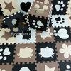 [NEEU]EVA anti slip black and white cartoon floor mats