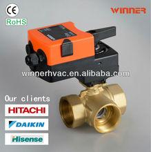 three-way control valve for flow control