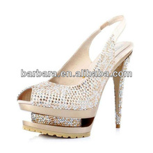 2015 Rhinestone Fishes Mouth Sandals Golden fashion shoes ,wholesale women shoes D050