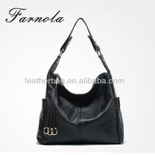 genuine Leather high Fashion Black Women Bags wholesale
