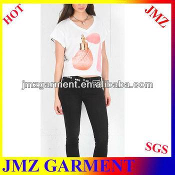 Hot sale t-shirt korea design