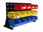 storage organizer with plastic storage bins