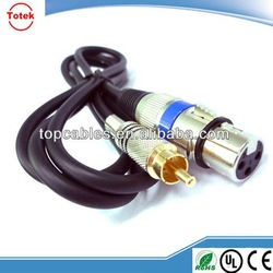 factory direct RCA to XLR cable