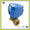 CWX-15Q 2-way DC12V motorized ball valve for Air-warm valve.HVAC and fire-flight sprinkler service
