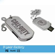 Promotional Customized Logo Metal Dog Tag USB Flash Drive