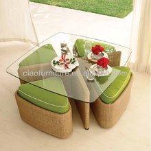 J- Leisure wicker coffee table set CF788T