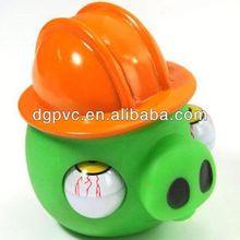relieve duck ,halloween eyes pop out squeeze toy, pop eye animals keychain