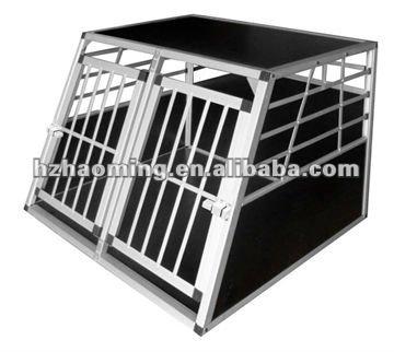 Small Alu double door dog crate cage