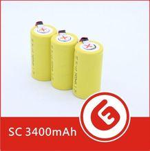 GLE-SC3400 ni-cd sc 1800mah battery 1.2v flat top with tabs