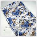 2013 fleur de la mode en coton imprimé foulard à franges tissé